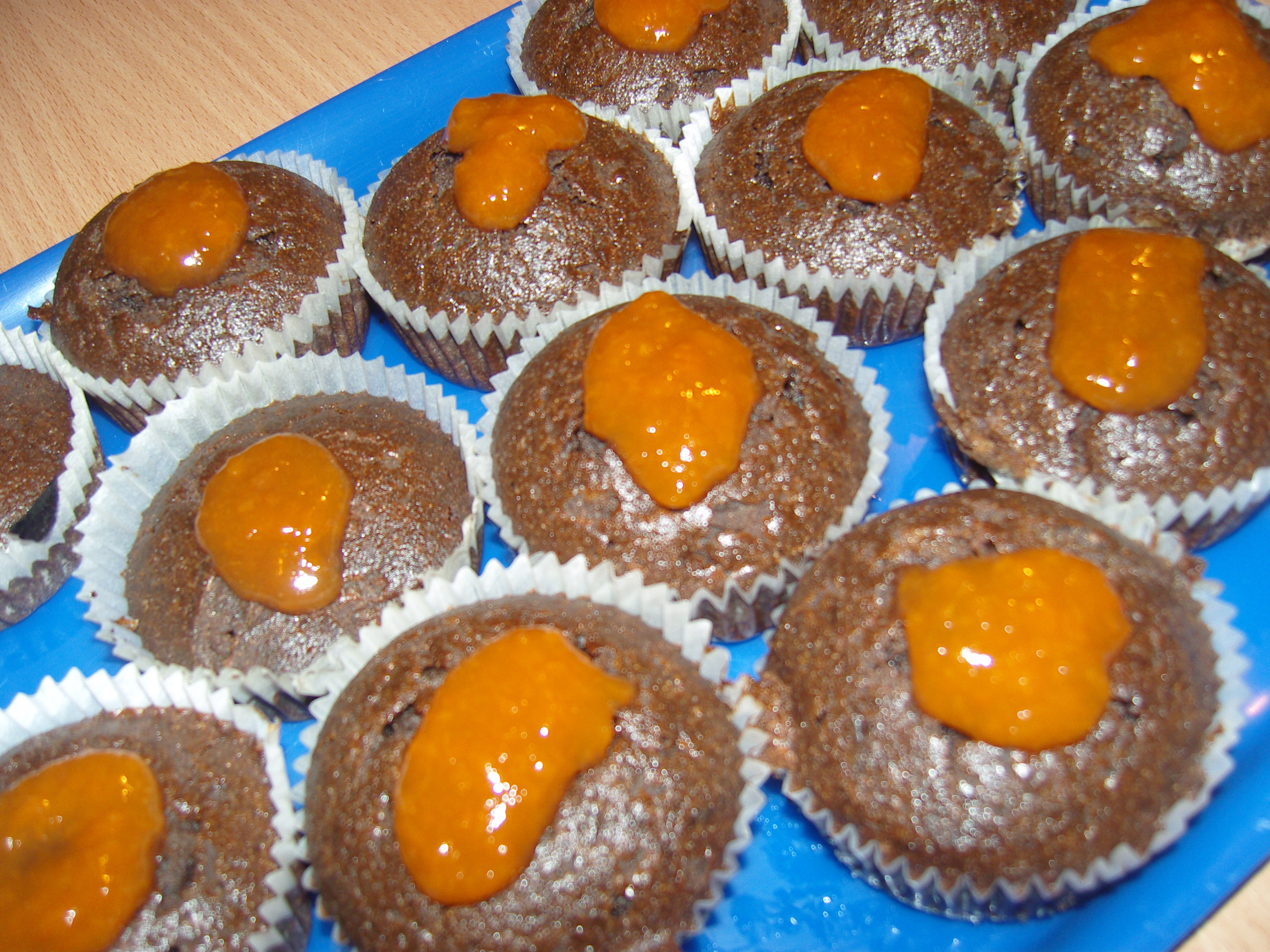 sacher muffin recept