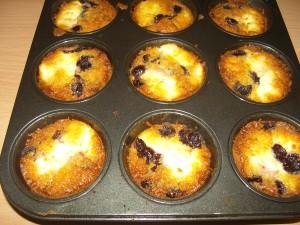 Meggyes túrós 5 perces muffin