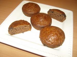 Gesztenyés csoki darabos muffin