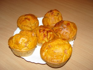 pizzás muffin recept