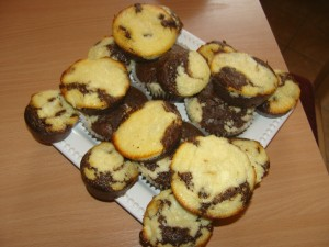 foltos muffin túróval és csokival
