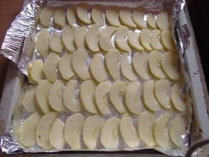 Almás habos vanília krémmel töltve