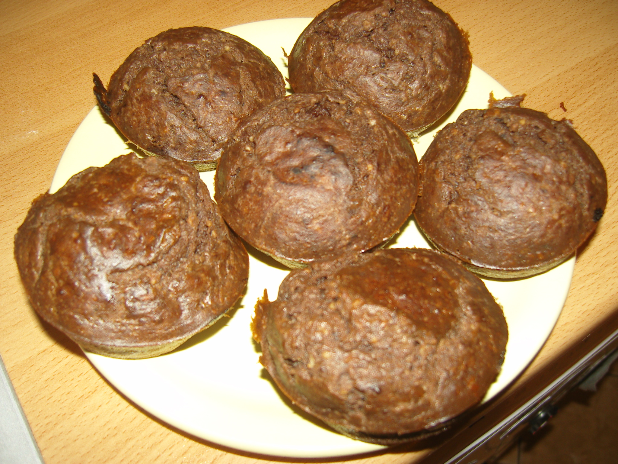 Diétás kakaós diós muffin