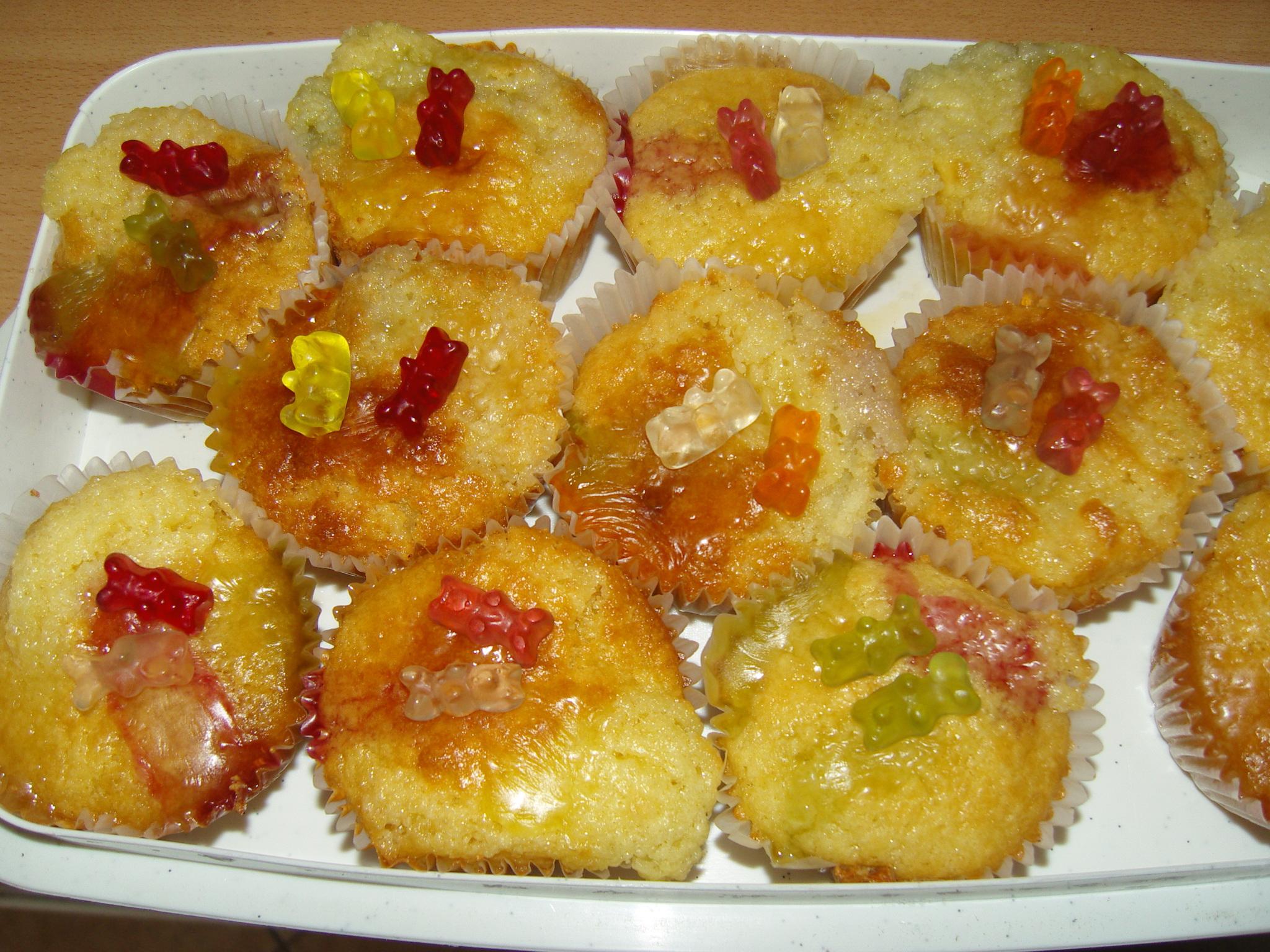 Muffin receptek gyerekeknek, gumimacis muffin