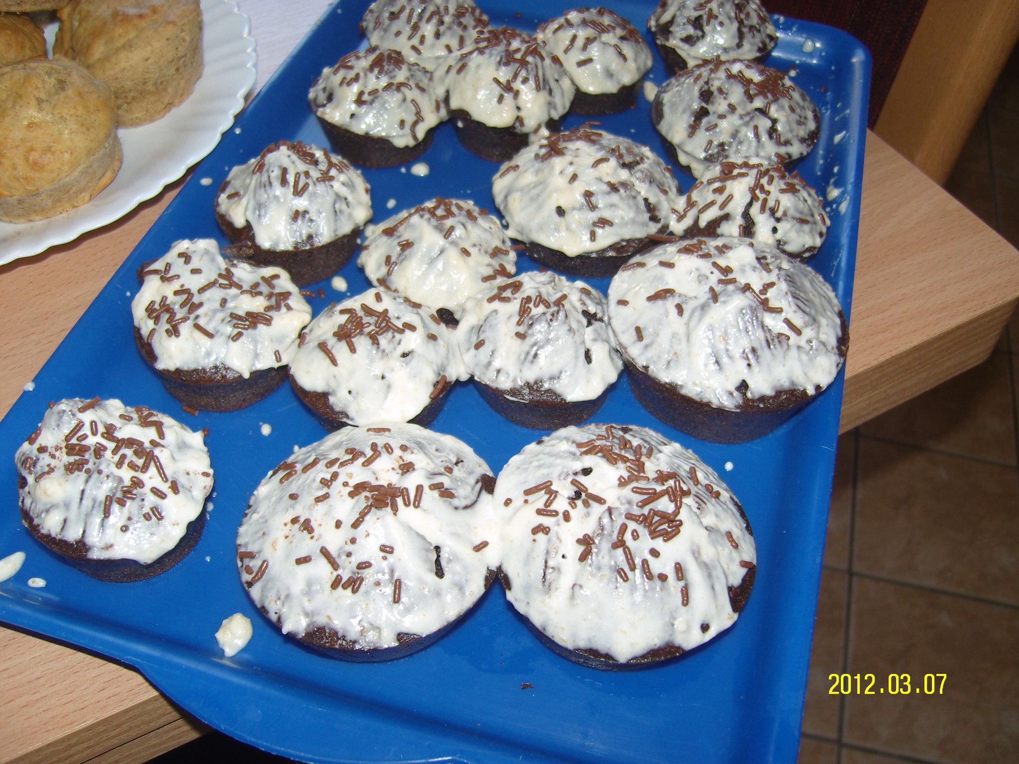 Csoki vaníliás muffin