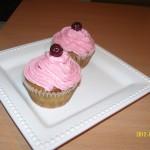 Meggyes cupcake recept